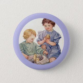 Bóton Redondo 5.08cm Botão dos pintinhos e das crianças do bebê da