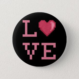 Bóton Redondo 5.08cm Botão dos pixéis do amor