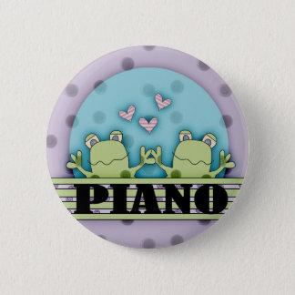 Bóton Redondo 5.08cm Botão dos sapos do piano