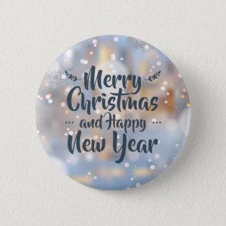 Bóton Redondo 5.08cm Botão elegante do Pin do Natal & do feliz ano novo