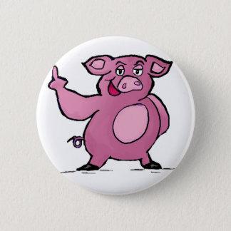 Bóton Redondo 5.08cm Botão engraçado do dedo médio do porco