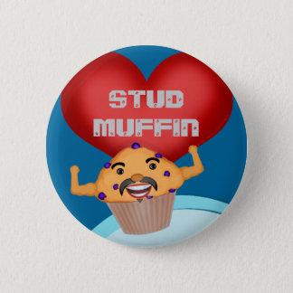 Bóton Redondo 5.08cm Botão engraçado do muffin do parafuso prisioneiro