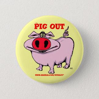 Bóton Redondo 5.08cm Botão engraçado do porco