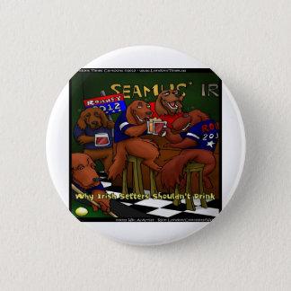 Bóton Redondo 5.08cm Botão engraçado dos setter irlandeses de Romney