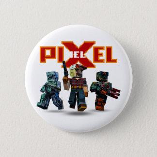 Bóton Redondo 5.08cm Botão épico do trio do jogo | de Pixelfield