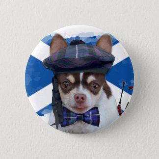 Bóton Redondo 5.08cm Botão escocês do cão da chihuahua