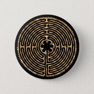 Bóton Redondo 5.08cm Botão escuro dos trajetos da pérola do labirinto