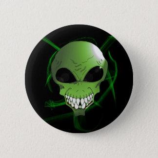 Bóton Redondo 5.08cm Botão estrangeiro verde
