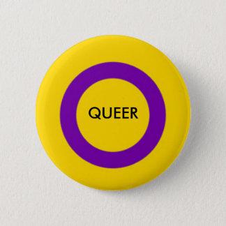 Bóton Redondo 5.08cm Botão estranho do orgulho de Intersex