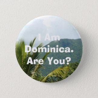 Bóton Redondo 5.08cm Botão - 'eu sou Dominica