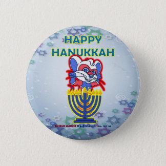 Bóton Redondo 5.08cm Botão feliz 2016 de Hanukkah do RATO do PROTETOR