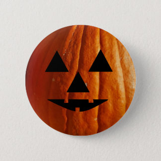 Bóton Redondo 5.08cm Botão feliz da abóbora do Dia das Bruxas