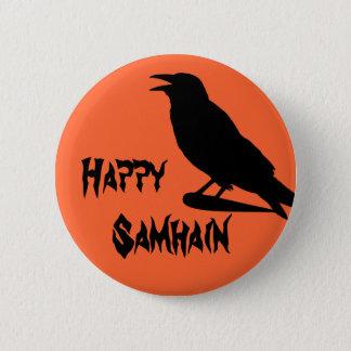 Bóton Redondo 5.08cm Botão feliz de Samhain