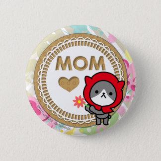 Bóton Redondo 5.08cm Botão feliz do dia das mães - gatinho