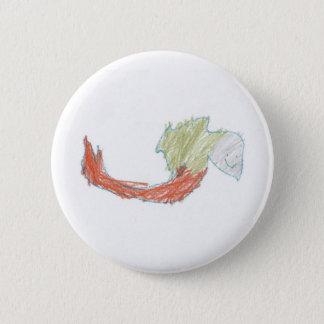 Bóton Redondo 5.08cm Botão feliz do Doodle da sereia