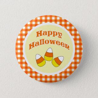 Bóton Redondo 5.08cm Botão feliz do milho de doces do Dia das Bruxas