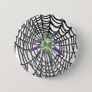 Bóton Redondo 5.08cm Botão gótico da aranha de vidro