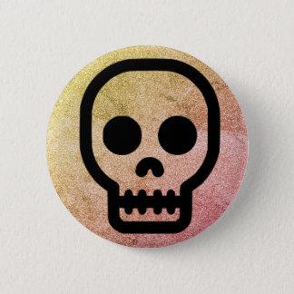 Bóton Redondo 5.08cm Botão gótico de Pinback do punk do crânio do