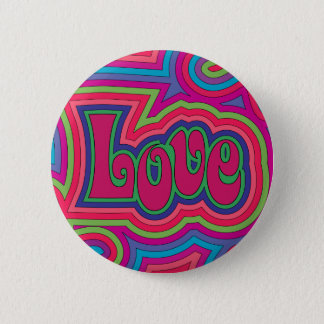Bóton Redondo 5.08cm Botão Groovy do amor