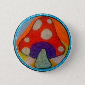 Bóton Redondo 5.08cm Botão Groovy do cogumelo