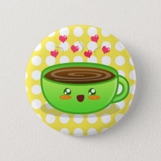 Bóton Redondo 5.08cm Botão húmido quente do café