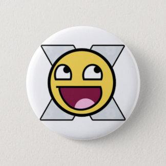 Bóton Redondo 5.08cm Botão impressionante do smiley
