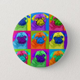 Bóton Redondo 5.08cm botão inspirado do Pug