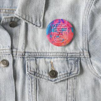Bóton Redondo 5.08cm Botão inspirador de inspiração - citações da arte