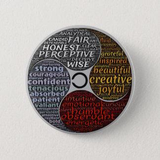 Bóton Redondo 5.08cm Botão inspirador do espiritual do zen da