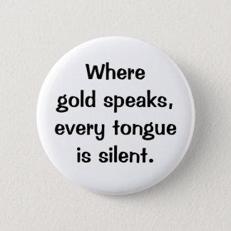 Bóton Redondo 5.08cm Botão italiano do provérbio No.206