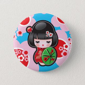 Bóton Redondo 5.08cm Botão japonês da boneca de Kawaii