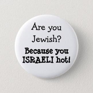 Bóton Redondo 5.08cm Botão judaico do humor