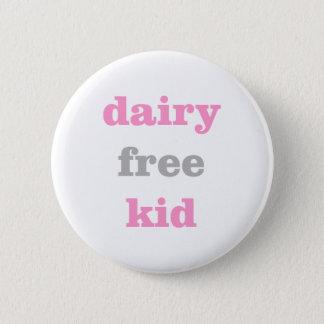 Bóton Redondo 5.08cm botão livre da alergia do leite da leiteria para