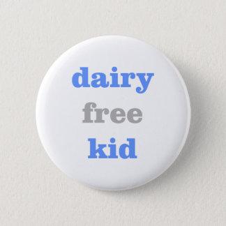 Bóton Redondo 5.08cm botão livre da alergia do leite da leiteria para o