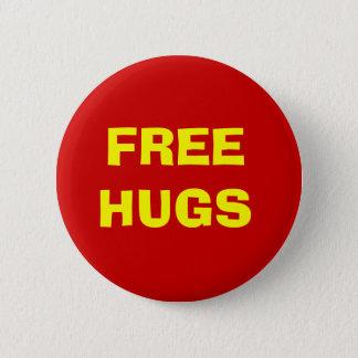 Bóton Redondo 5.08cm Botão livre dos abraços - vermelho