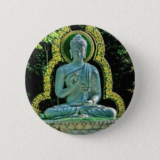 Bóton Redondo 5.08cm Botão Meditating de Buddha