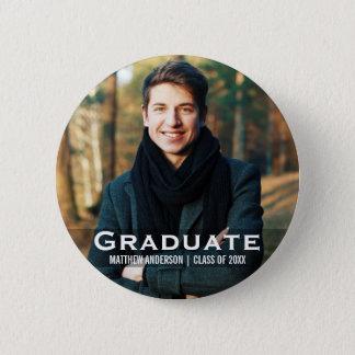 Bóton Redondo 5.08cm Botão moderno da foto da graduação