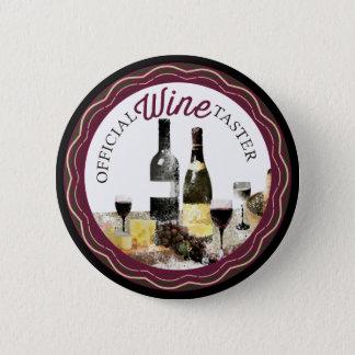 Bóton Redondo 5.08cm Botão oficial das garrafas de vinho do provador do