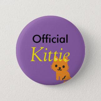 Bóton Redondo 5.08cm Botão oficial do kittie