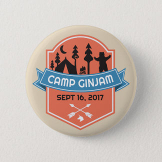Bóton Redondo 5.08cm Botão oficial dos ganhos de GinJam do acampamento