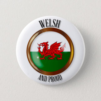 Bóton Redondo 5.08cm Botão orgulhoso da bandeira de Galês