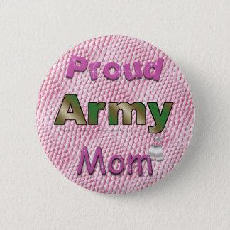 Bóton Redondo 5.08cm Botão orgulhoso da mamã do exército