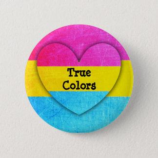 Bóton Redondo 5.08cm Botão Pansexual da bandeira das cores verdadeiras