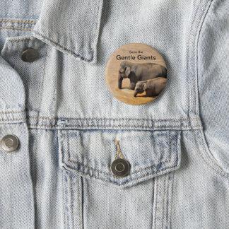 Bóton Redondo 5.08cm Botão para amantes do elefante