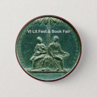 Bóton Redondo 5.08cm Botão para feiras do Fest & de livro do Lit as VI
