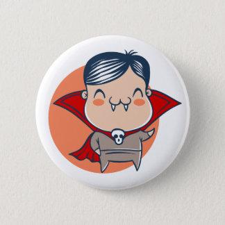Bóton Redondo 5.08cm Botão para o Dia das Bruxas com vampiro. Dracula
