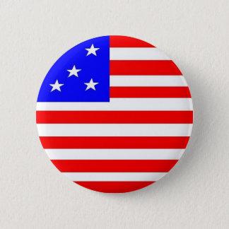 Bóton Redondo 5.08cm Botão patriótico