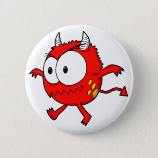 Bóton Redondo 5.08cm Botão pequeno louco do monstro do diabo