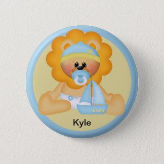 Bóton Redondo 5.08cm Botão personalizado do leão do bebê