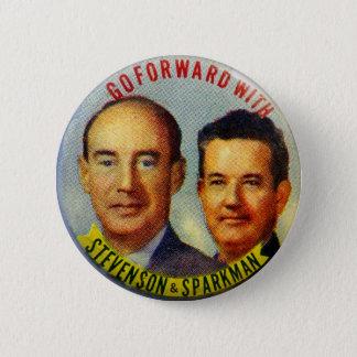 Bóton Redondo 5.08cm Botão político de Stevenson Sparkman do kitsch do